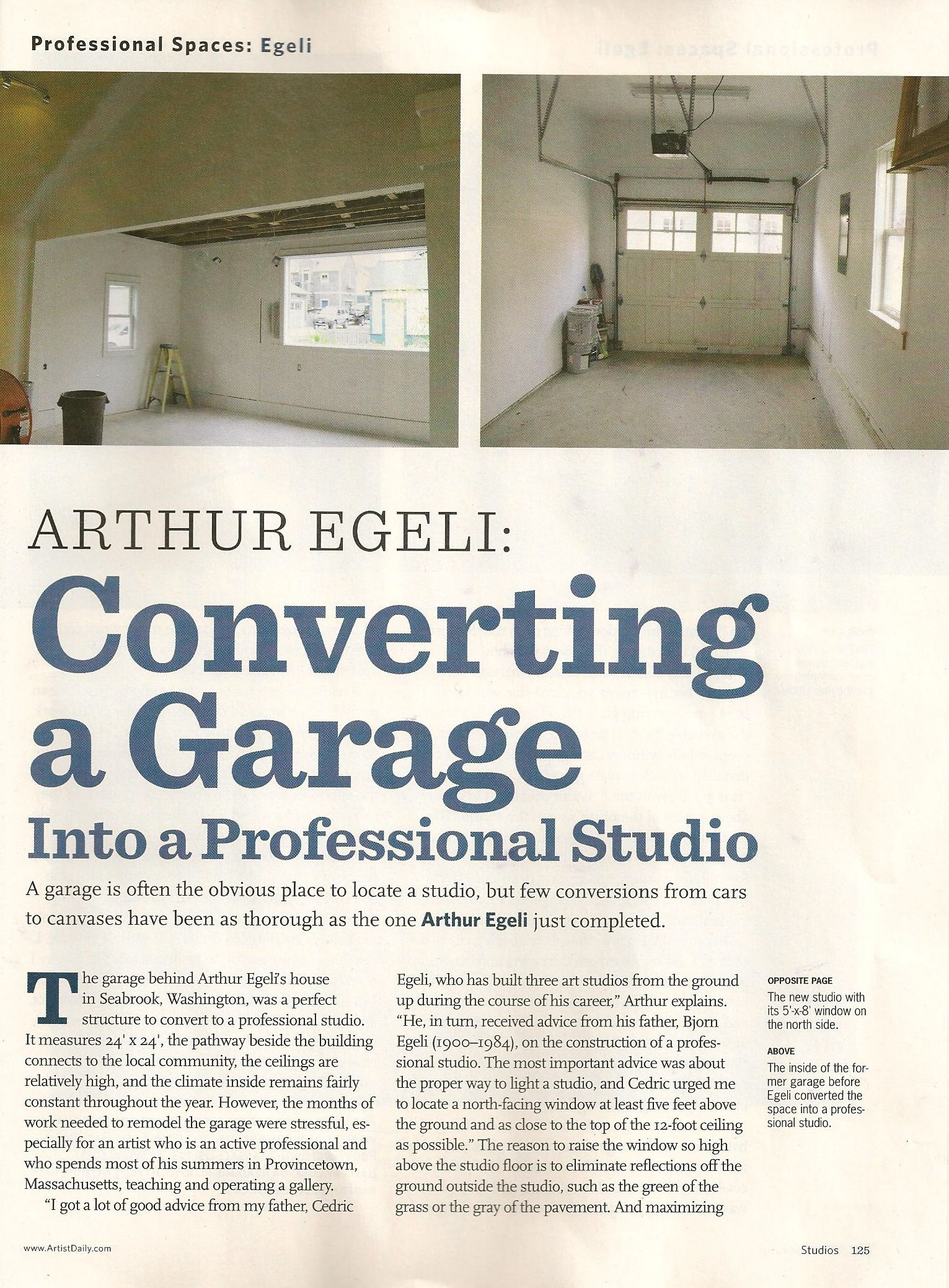 Convert Garage To Studio american artist - converting a garage into a professional studio