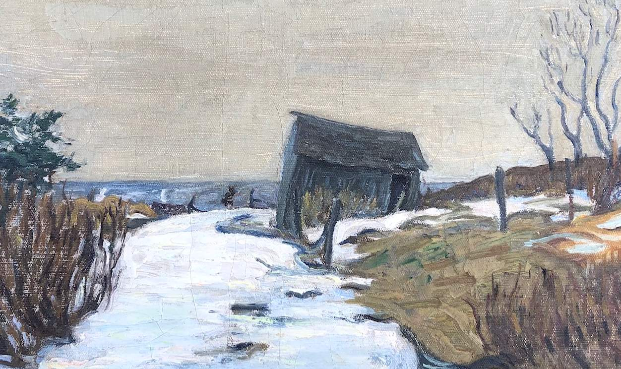Ross Moffett Cape Barn painting detail