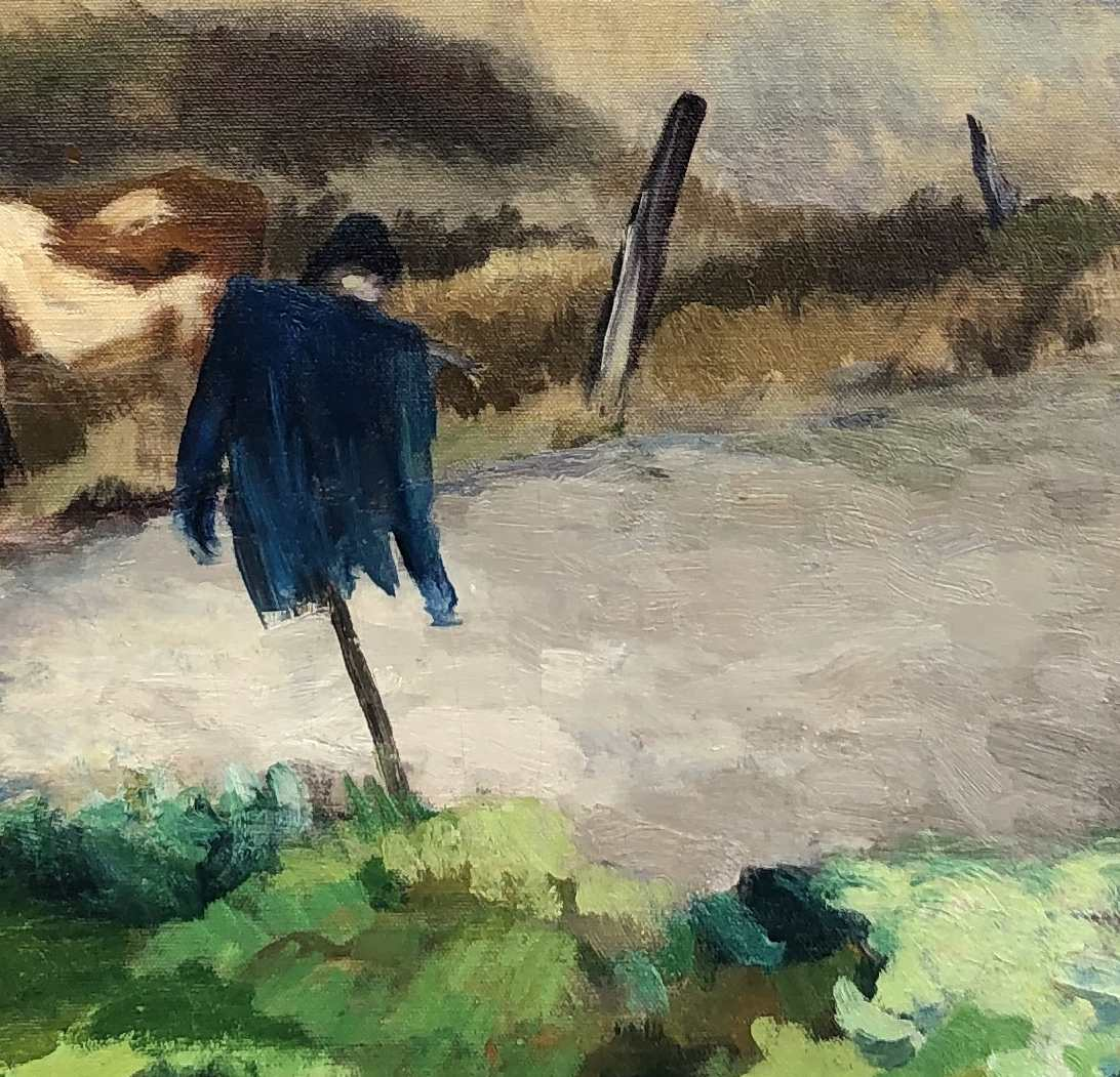 Tod Lindenmuth the Dunes in Fall painting detail